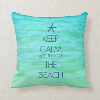 KEEP CALM BEACH PILLOW