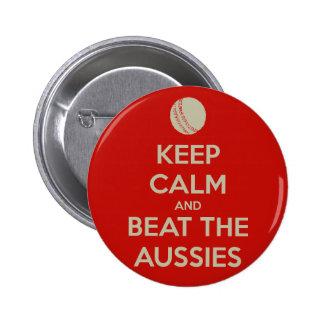 keep calm beat aussies 2 inch round button