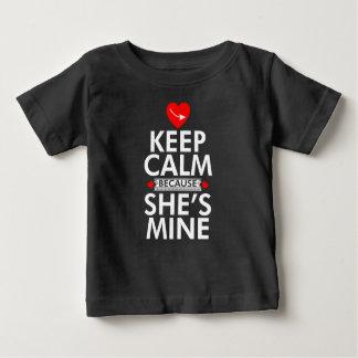 Keep Calm Because She is Mine T Shirt