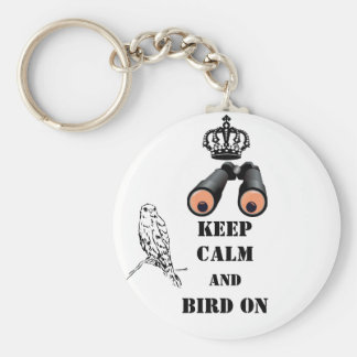 Keep Calm Bird Watching Keychain