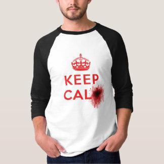 Keep Calm (Blood Splatter) - 3/4 Sleeve T-Shirt