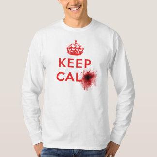 Keep Calm (Blood Splatter) - Long Sleeve T-Shirt