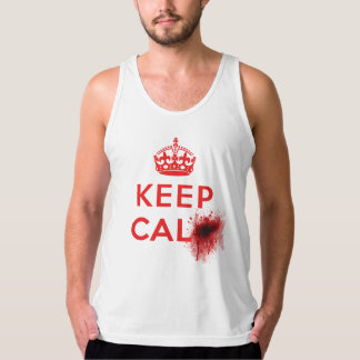 Keep Calm (Blood Splatter) - Tank Jersey