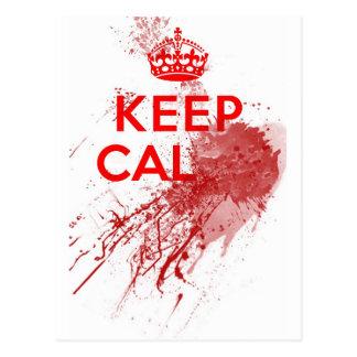 Keep Calm Bloody Zombie Postcard