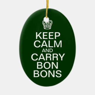Keep Calm Bon-Bons Christmas ornament