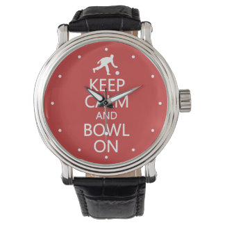 Keep Calm & Bowl On watches