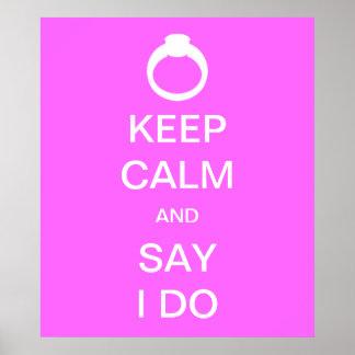 Keep Calm Bridal Poster