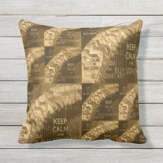 KEEP CALM BUY ART - Cream Throw Pillow