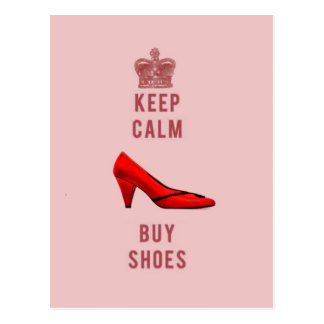 Keep Calm & Buy Shoes Postcard