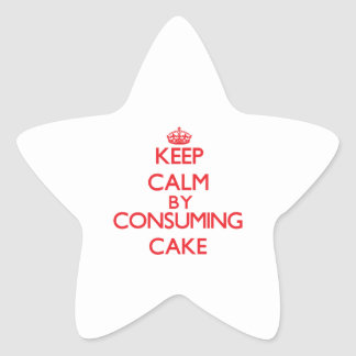 Keep calm by consuming Cake Star Stickers
