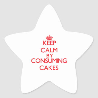 Keep calm by consuming Cakes Star Sticker