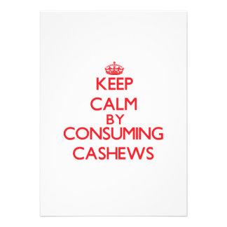 Keep calm by consuming Cashews Custom Invites