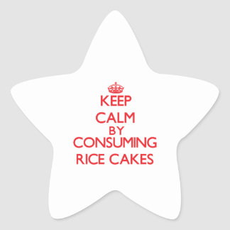 Keep calm by consuming Rice Cakes Star Sticker