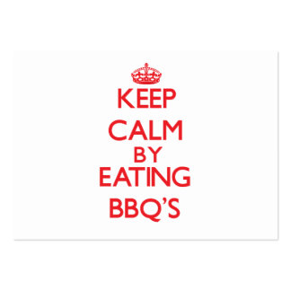 Keep calm by eating Bbq'S Business Card Template