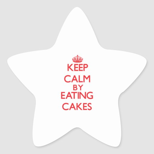 Keep calm by eating Cakes Sticker
