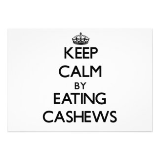 Keep calm by eating Cashews Custom Invitations