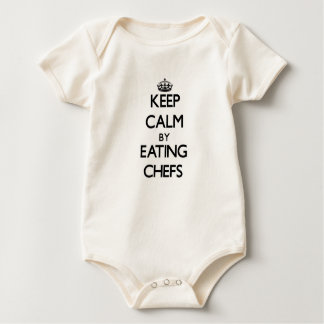 Keep calm by eating Chefs Baby Bodysuit