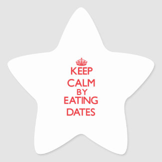Keep calm by eating Dates Star Stickers