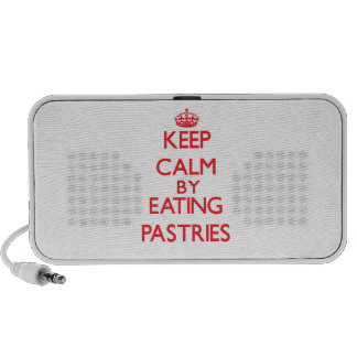 Keep calm by eating Pastries Travel Speaker