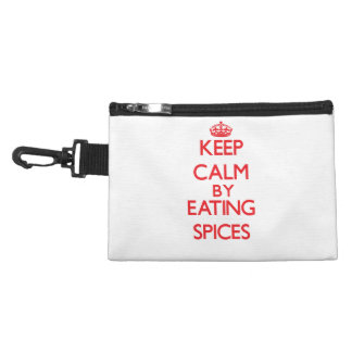 Keep calm by eating Spices Accessories Bags