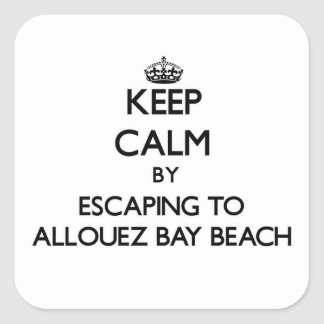 Keep calm by escaping to Allouez Bay Beach Wiscons Square Sticker