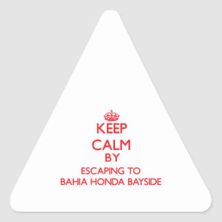 Keep calm by escaping to Bahia Honda Bayside Flori Triangle Sticker