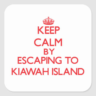 Keep calm by escaping to Kiawah Island South Carol Square Sticker