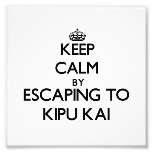 Keep calm by escaping to Kipu Kai Hawaii Art Photo