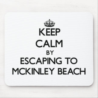 Keep calm by escaping to Mckinley Beach Wisconsin Mousepad