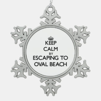 Keep calm by escaping to Oval Beach Michigan Ornament