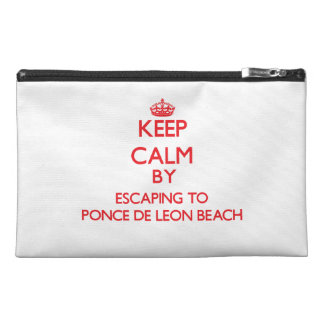 Keep calm by escaping to Ponce De Leon Beach Flori Travel Accessories Bags