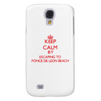 Keep calm by escaping to Ponce De Leon Beach Flori Samsung Galaxy S4 Covers