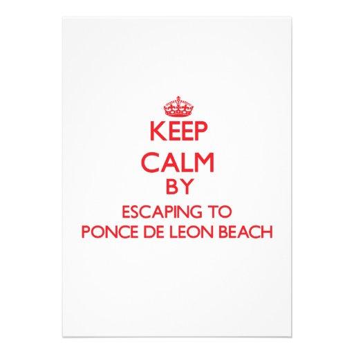 Keep calm by escaping to Ponce De Leon Beach Flori Custom Invitations