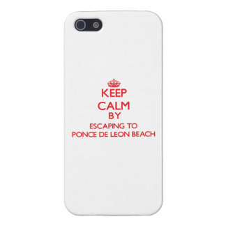 Keep calm by escaping to Ponce De Leon Beach Flori iPhone 5 Cover