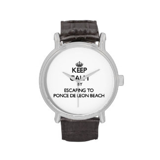 Keep calm by escaping to Ponce De Leon Beach Flori Wrist Watch