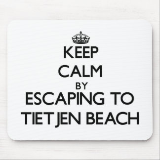 Keep calm by escaping to Tietjen Beach Wisconsin Mouse Pads