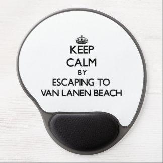 Keep calm by escaping to Van Lanen Beach Wisconsin Gel Mouse Mats