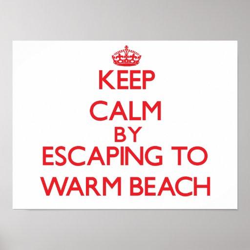 Keep calm by escaping to Warm Beach Washington Print