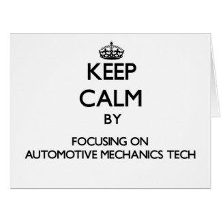 Keep calm by focusing on Automotive Mechanics Tech Cards