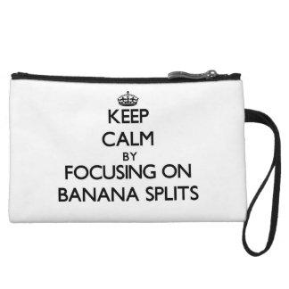 Keep Calm by focusing on Banana Splits Wristlet Clutch