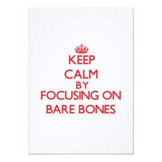 "Keep Calm by focusing on Bare-Bones 5"" X 7"" Invitation Card"