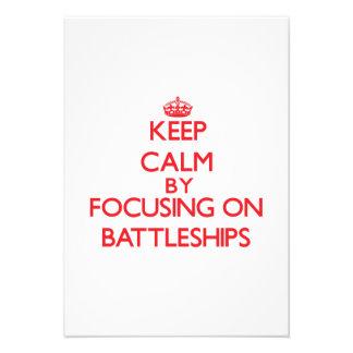 Keep Calm by focusing on Battleships Custom Announcement
