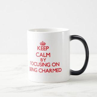 Keep Calm by focusing on Being Charmed Coffee Mugs