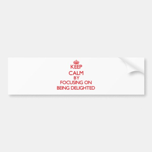 Keep Calm by focusing on Being Delighted Bumper Stickers