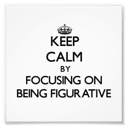 Keep Calm by focusing on Being Figurative Photographic Print