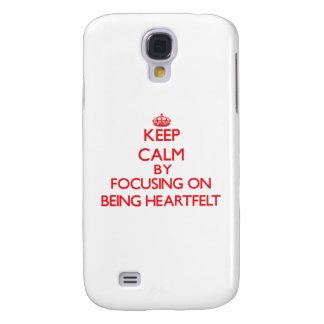 Keep Calm by focusing on Being Heartfelt Galaxy S4 Case