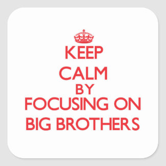 Keep Calm by focusing on Big Brothers Sticker