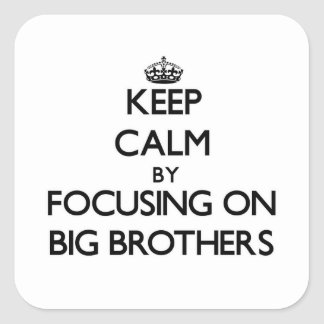 Keep Calm by focusing on Big Brothers Stickers