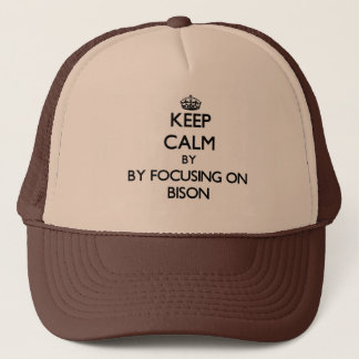 Keep calm by focusing on Bison Trucker Hat