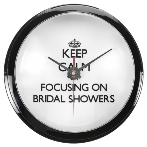 Keep Calm by focusing on Bridal Showers Fish Tank Clock